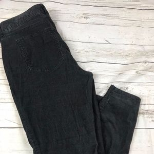 Eddie Bauer Natural Fit Black Corduroy Pants Jeans